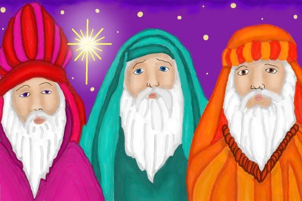 600x400 The 3 Wise Men A Ornamental Speedpaint Drawing By Kutedymples