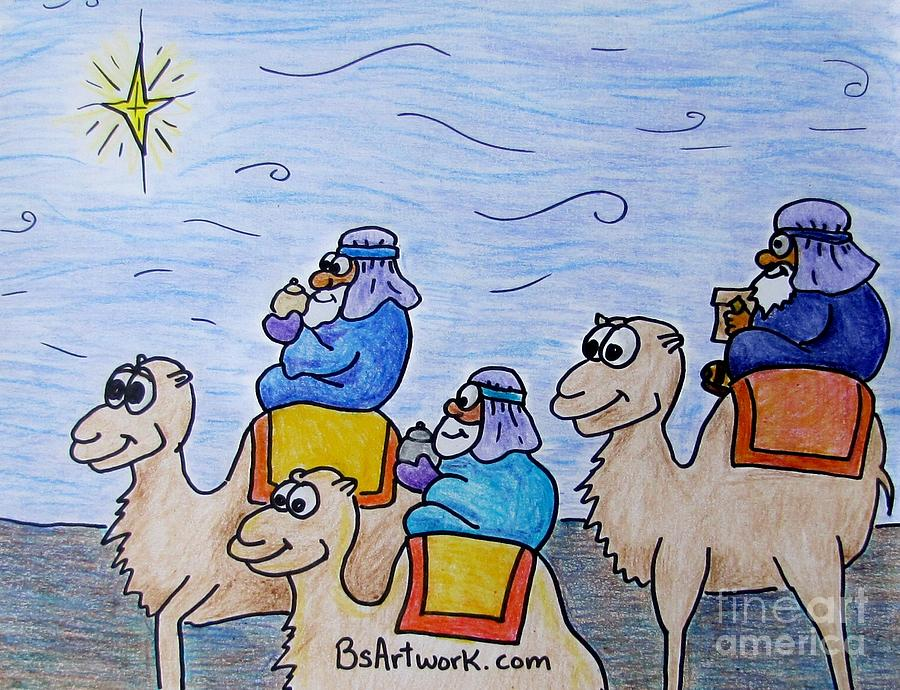 900x690 Wise Men Drawing By Bruce Semon