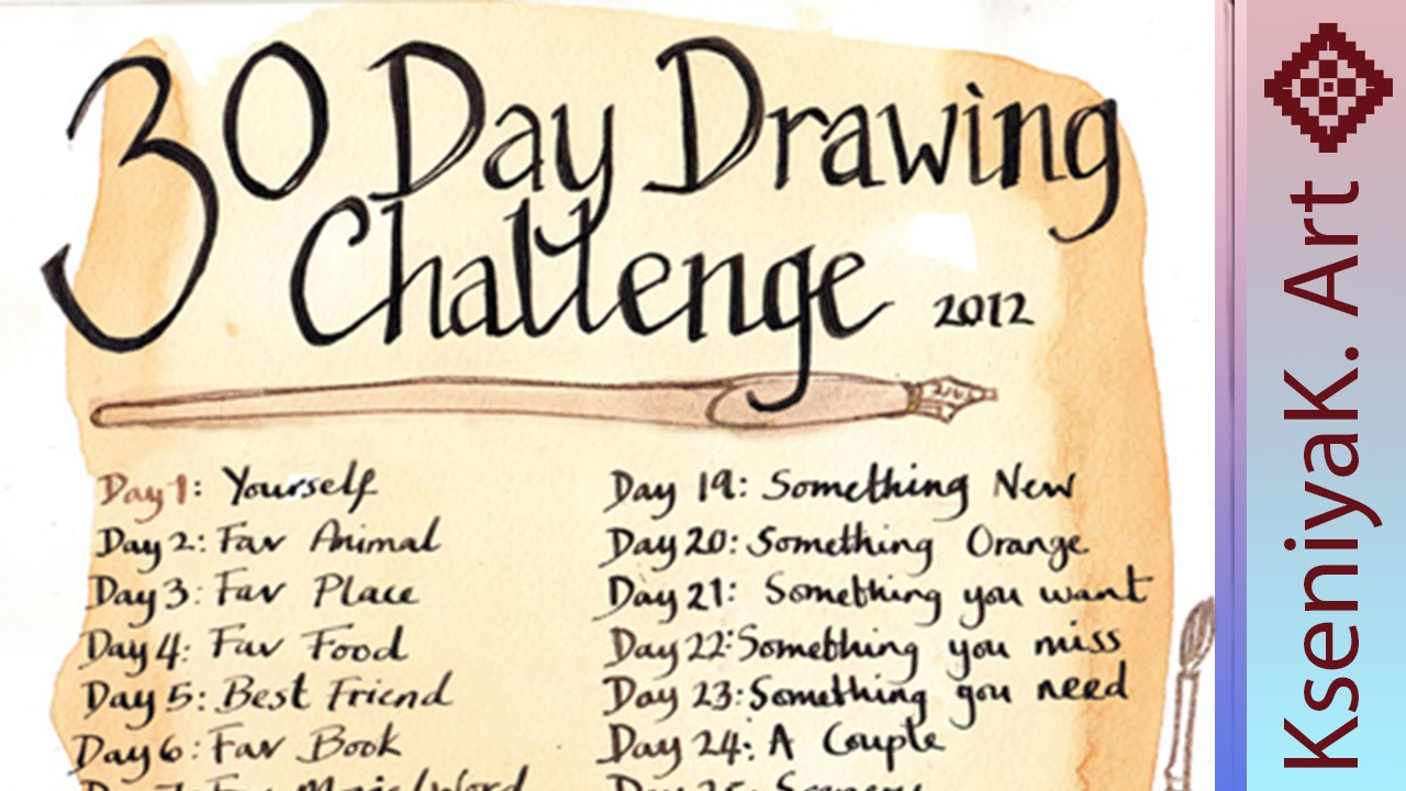 1280x720 30 Day Drawing Challenge