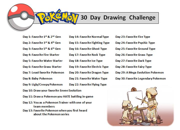 719x520 Pokemon 30 Day Drawing Challenge By Orangecreamswirl