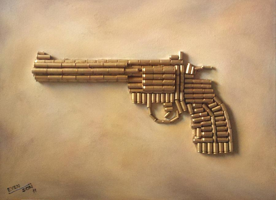 900x654 Colt Python 357 Magnum Mixed Media By Bryan Evenson