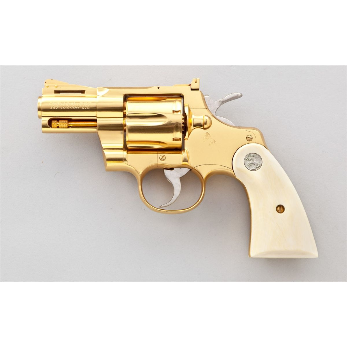 1200x1200 Gold Plated Colt Python 357 Magnum. I Would Love A Gold 357