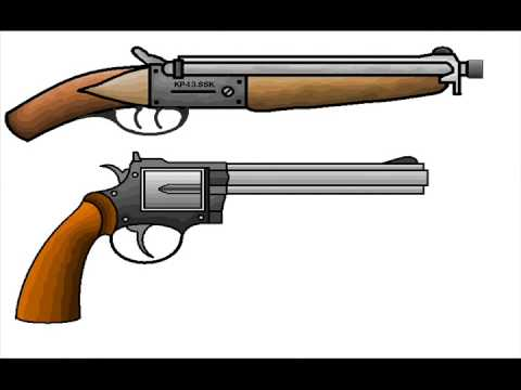 480x360 Ms Paint Sawn Off Shotgun And Colt Python 357 Magnum