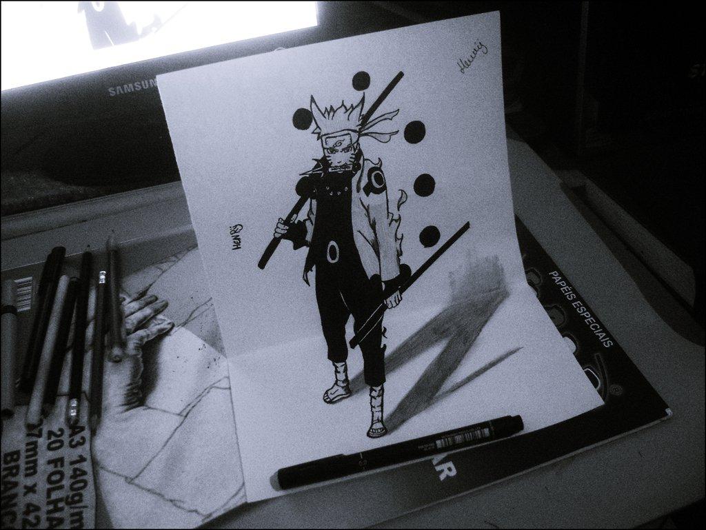 1024x769 Anime 3d Drawing 3d Draw By Henrydradye