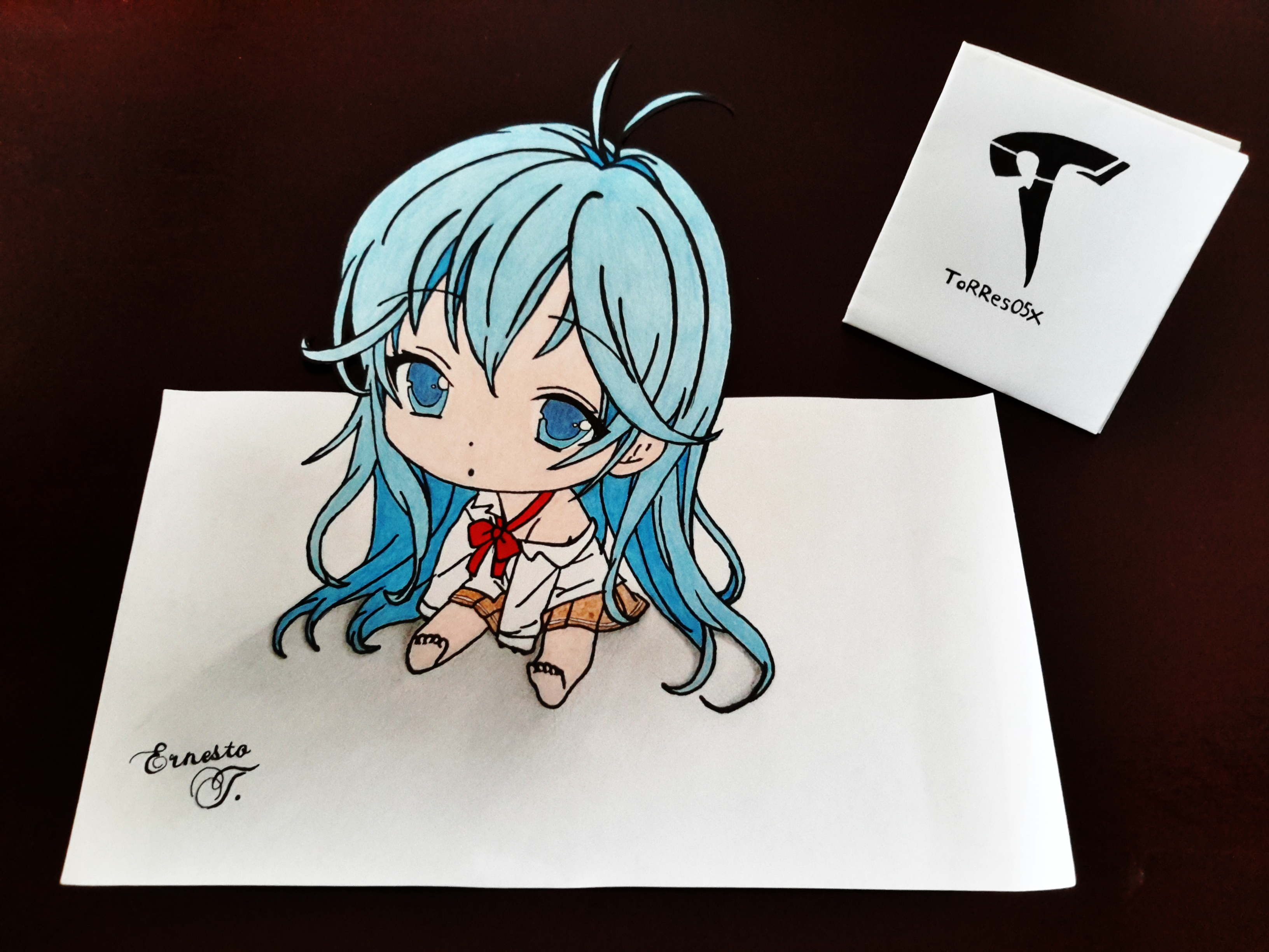 3264x2448 Erio Touwa Chibi Drawing