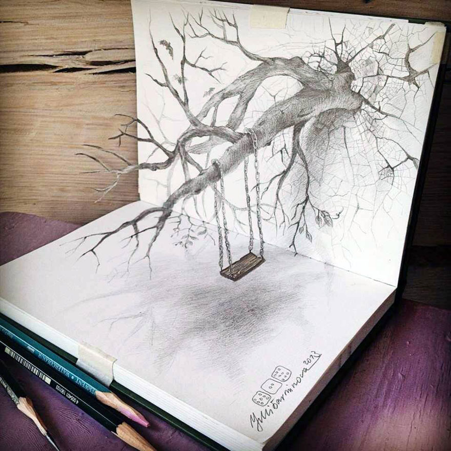 880x880 33 Of The Best 3d Pencil Drawings Bored Panda