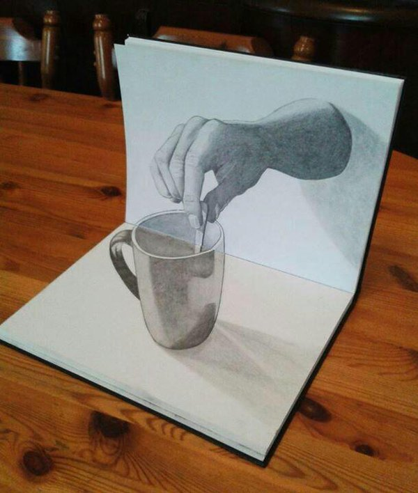 600x708 Amazing 3d Works Of Art 3d, 3d Drawings And Drawings