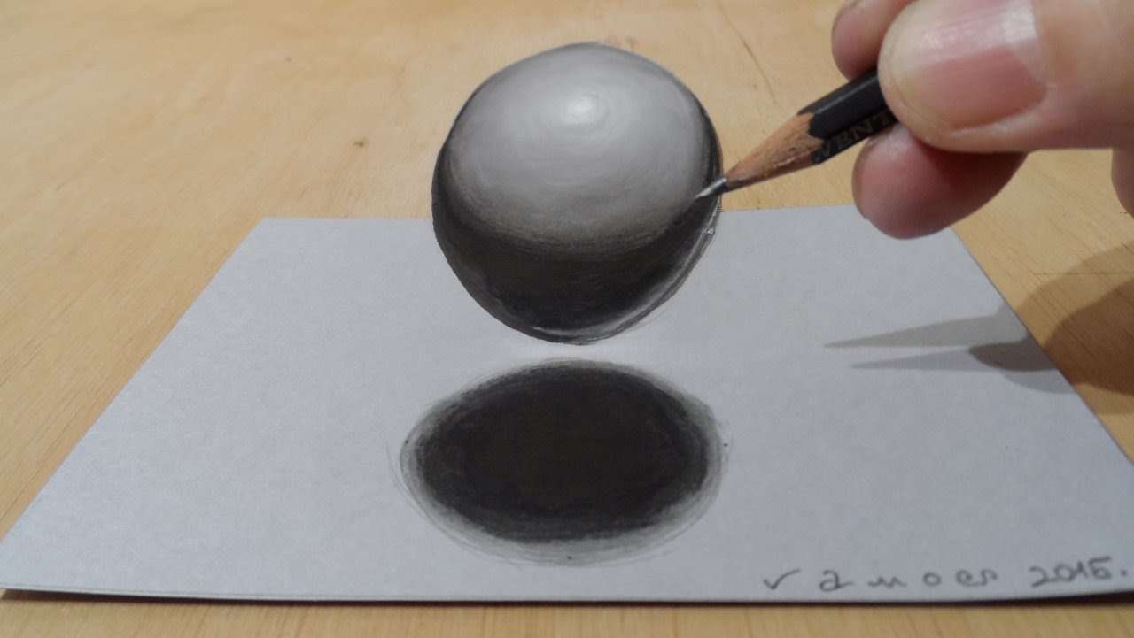 1280x721 3d Drawing Of A Sphere, Levitating Ball