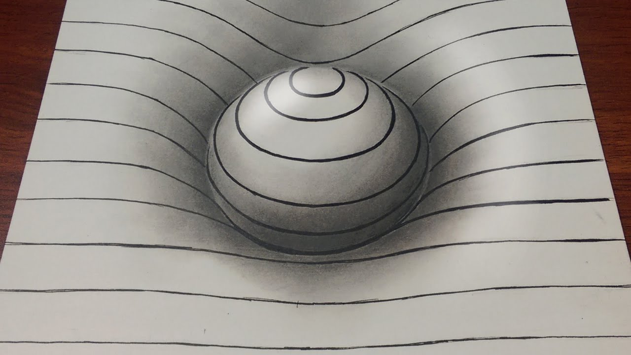 1280x720 Drawing Easy How To Draw A 3d Sphere With Lines