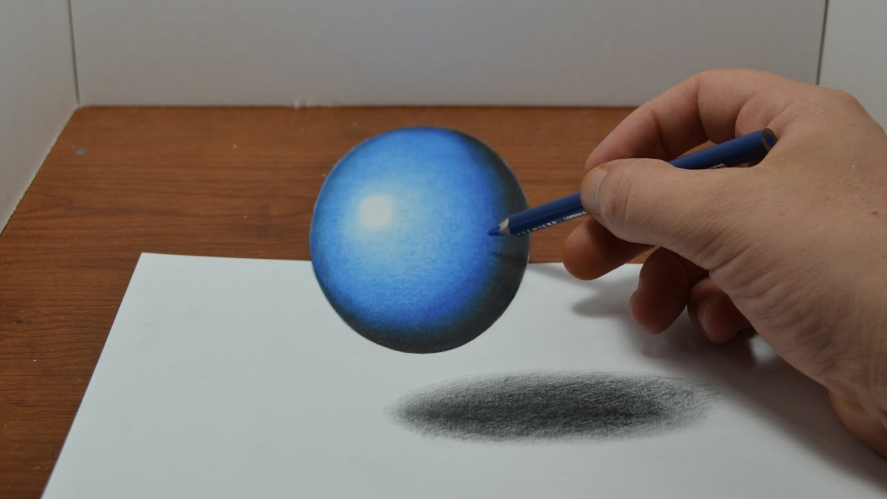 1280x720 Drawing A Floating, Levitating Ball