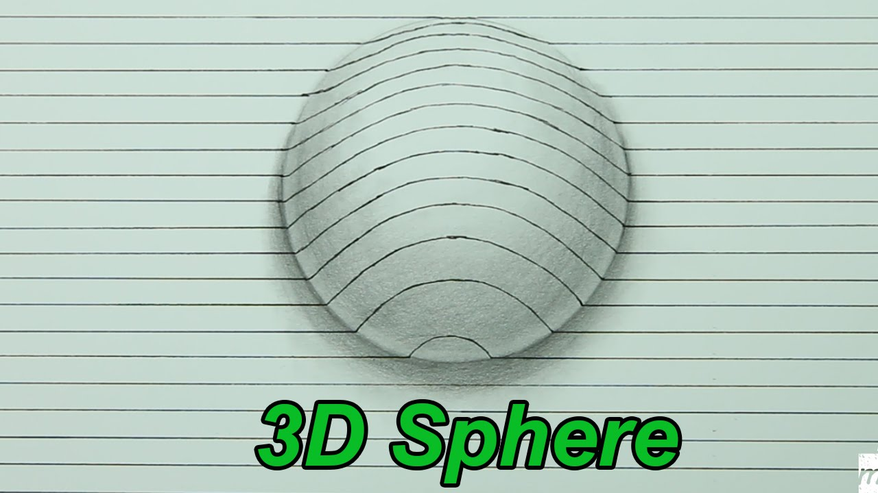 1280x720 How To Draw A 3d Sphere