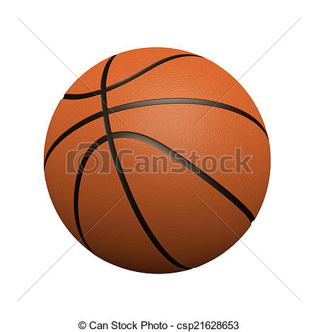 450x470 3d Basketball. 3d Render Of A Basketball Stock Illustrations