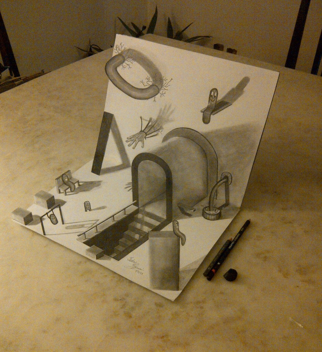 1024x1121 Another 3d Drawing ) By Fedevigevani