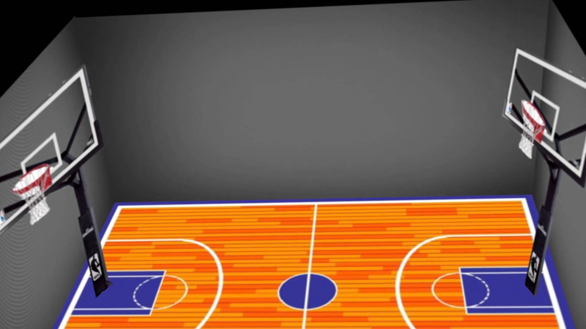 1920x1080 Basic 3d Basketball Court