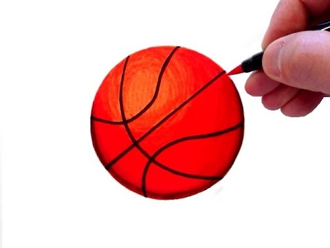 480x360 How To Draw A Realistic Basketball