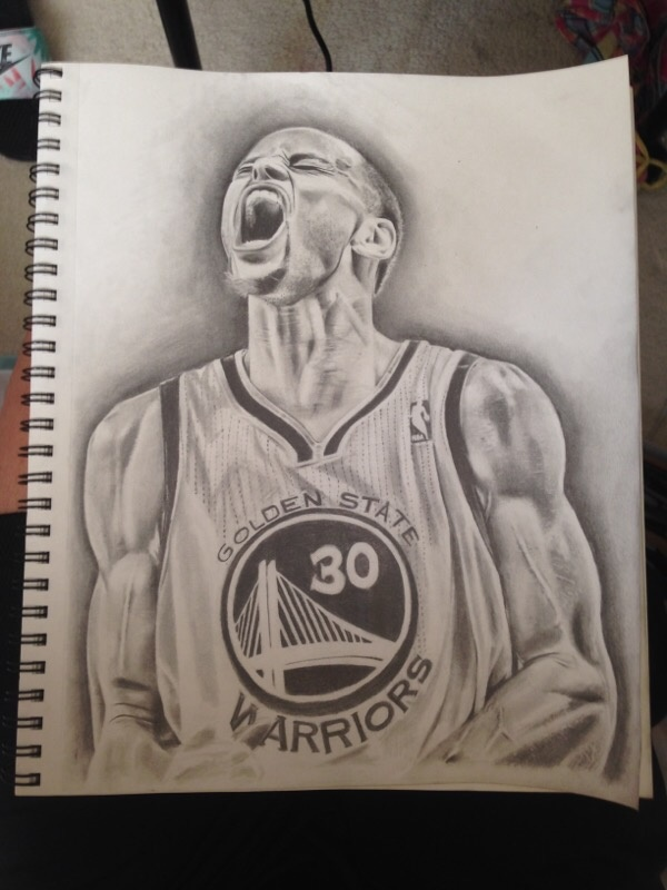 600x800 Stephen Curry Drawing Dope Sox