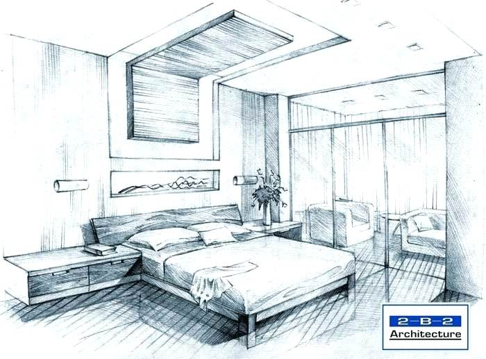 700x517 3d Bedroom Drawing How To Draw A Room Grade Perspective Drawing