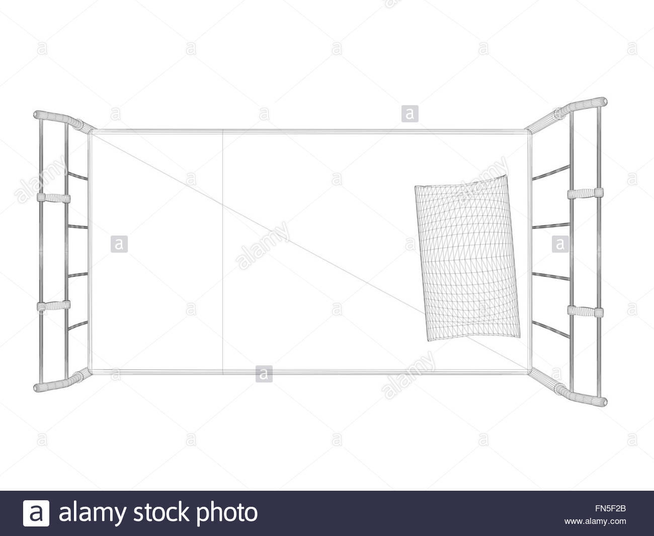 1300x1065 3d Wireframe Bed Drawing Illustration Isolated On White Background