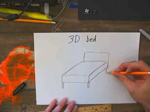 480x360 Drawing A 3d Bed