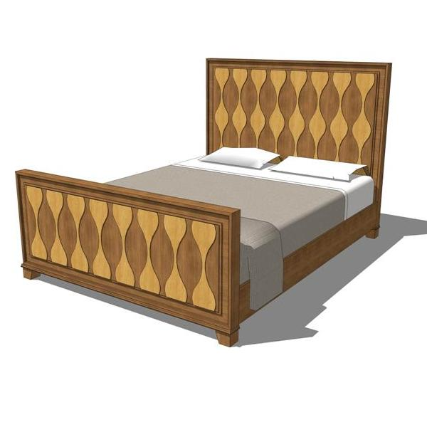 600x600 Rosell Queen Bedroom Set 3d Model