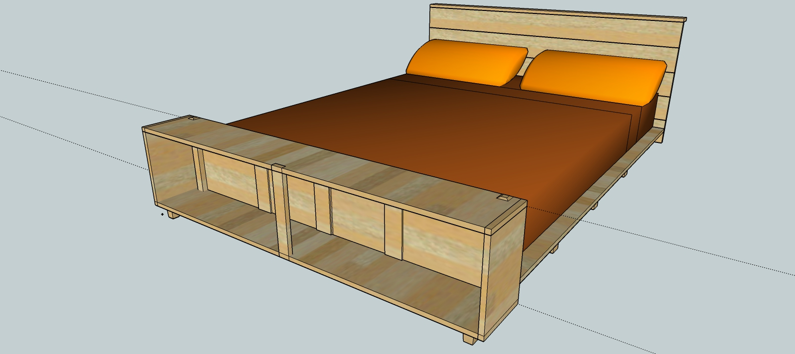1596x711 This Week In The Shop Queen Sized Bed Woodshopcowboy