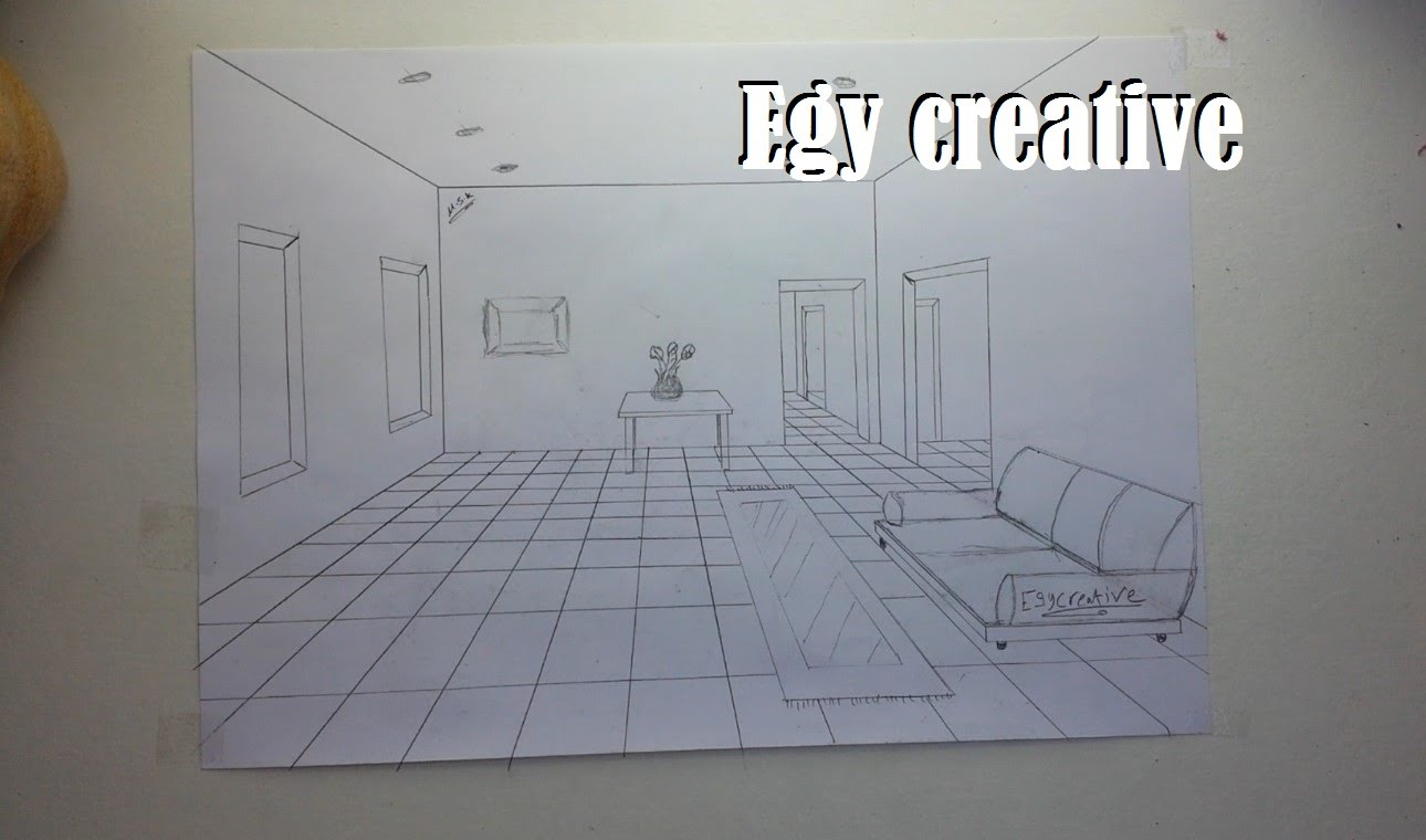 1290x760 Egy Creative Learn How To Draw 3d Room With One Point