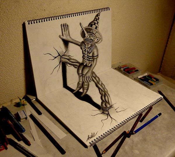 600x538 Amazing 3d Pencil Drawing 2 Amazing Collection Of 3d Pencil
