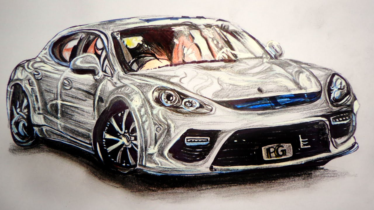 3d Car Drawing at GetDrawings com | Free for personal use 3d Car