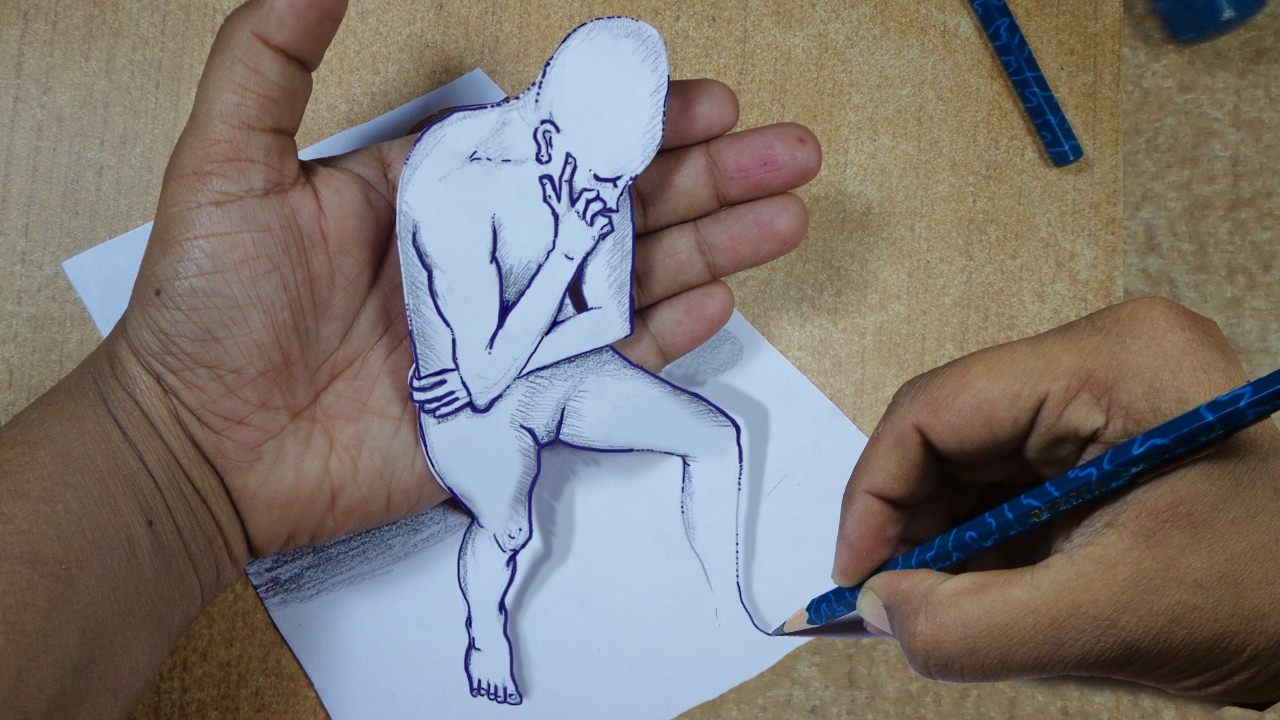 1280x720 How To Draw 3d Cartoon On Paper Draw 3d Optical Illusions