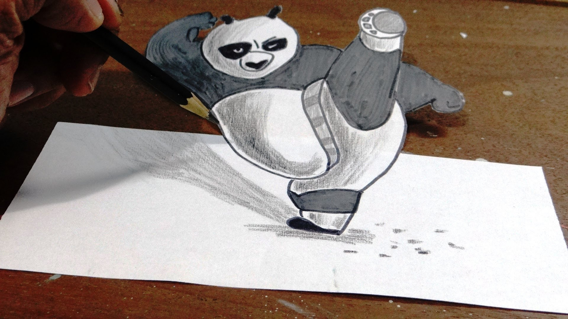 1920x1080 How To Draw Kung Fu Panda In 3d Step By Step With Narration