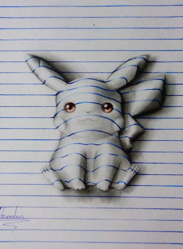 605x823 These 3d Cartoon Drawings By A 16 Year Old Artist Are Amazing