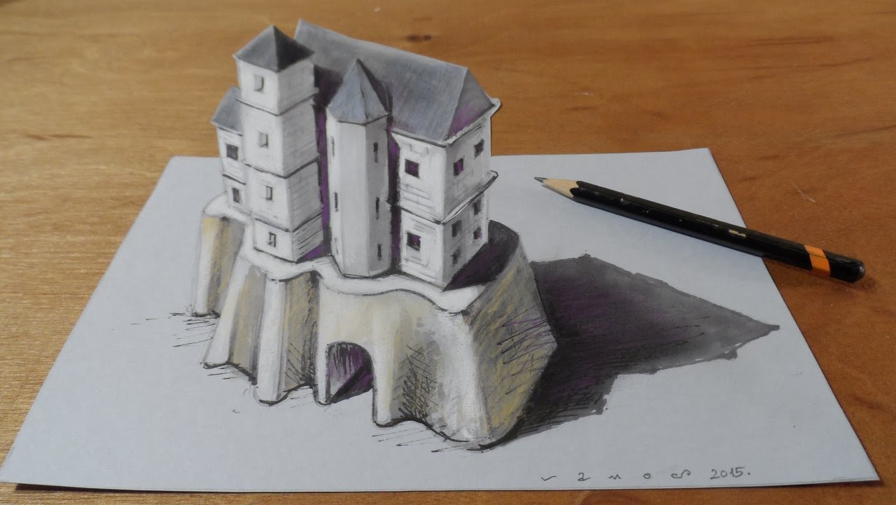 3d Castle Drawing At Getdrawings Com Free For Personal Use 3d