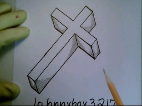 3d Cross Drawing At Getdrawingscom Free For Personal Use