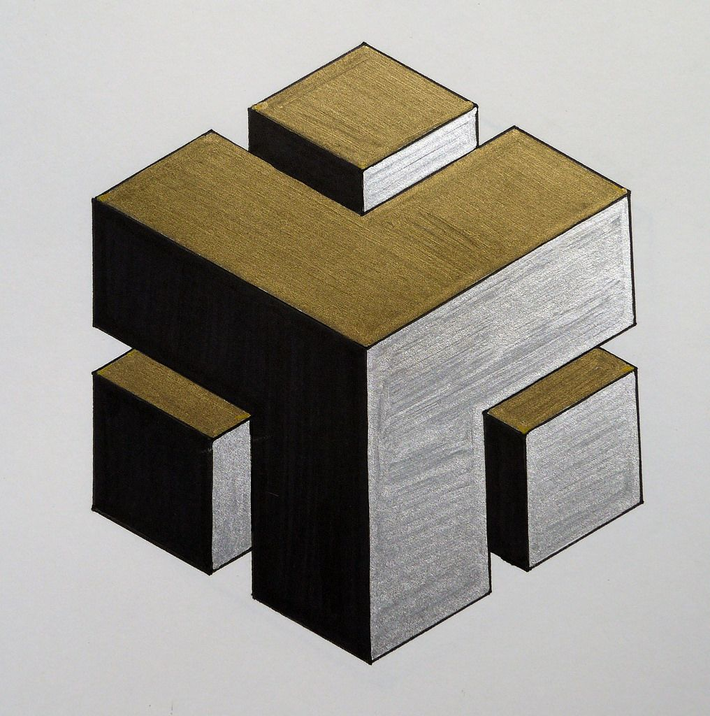 1016x1024 Carved Cube Detail (Karen Cattoire) Tags Abstract Black Silver