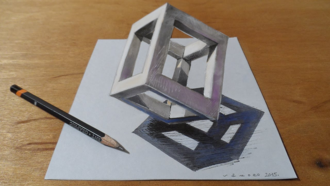 1280x721 How To Draw 3d Cube