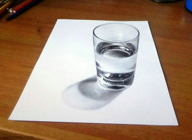 660x484 3d Glass Of Water Illustration Benim Panom 3d