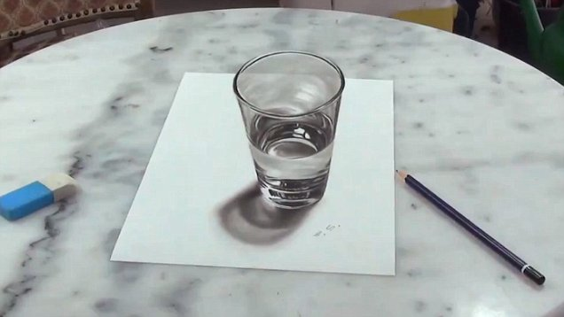 636x358 Amazing 3d Drawing Will Have You Believing This Glass Is Real