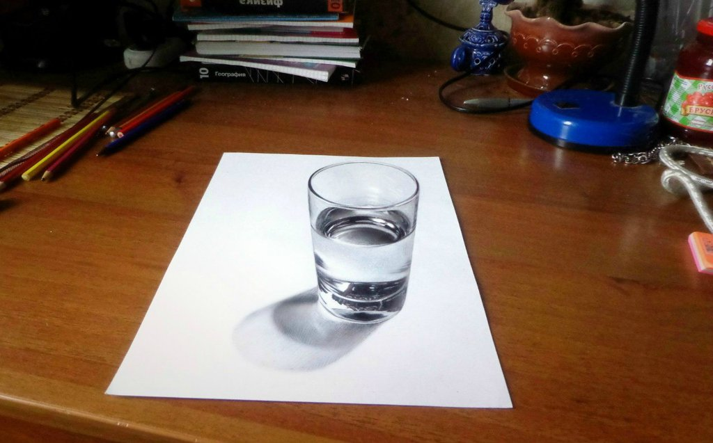 1024x637 Glass Of Water 3d By Sanylebedev