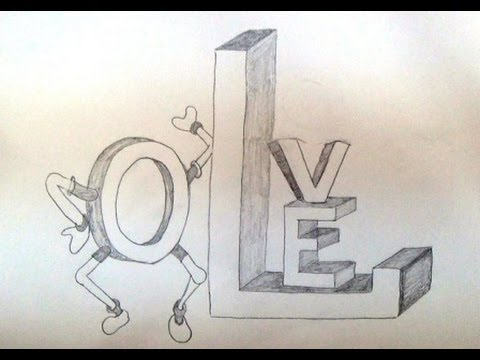 480x360 How To Write Love In 3d Style 3d Letters Drawing