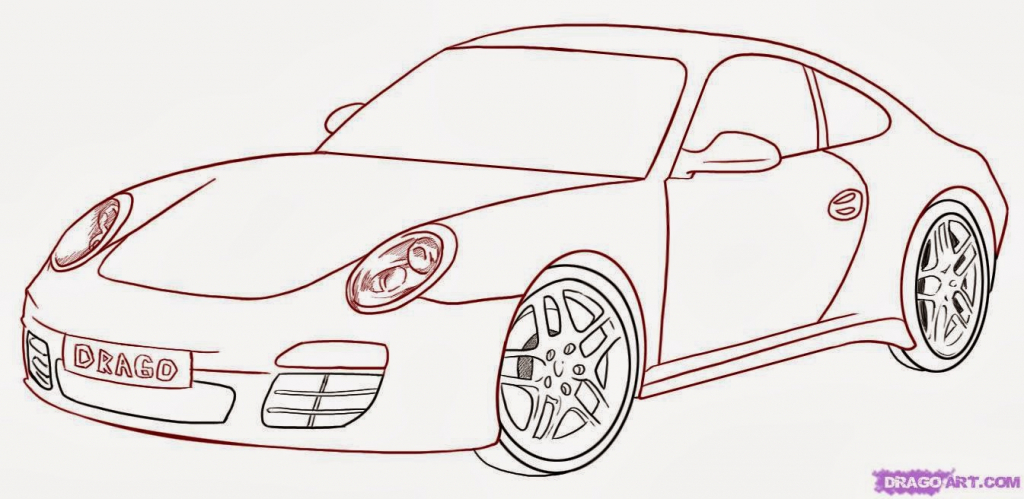 1024x499 3D Drawing Car Drawings Side View Info