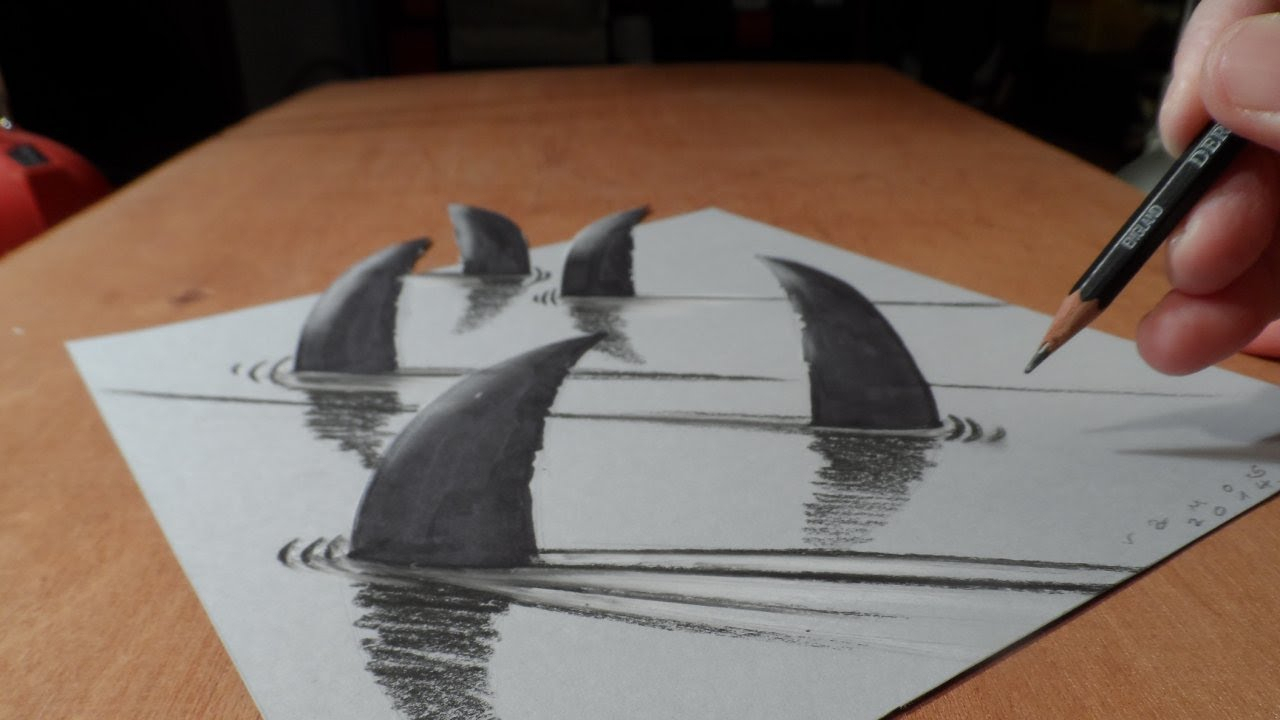 3d Drawing On Paper At Getdrawingscom Free For Personal