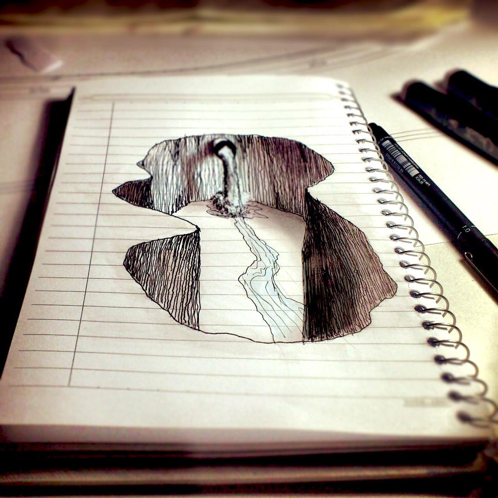 972x972 3d Pencil Sketch Drawing 3d Pencil Sketch Painting 3d Easy Pencil
