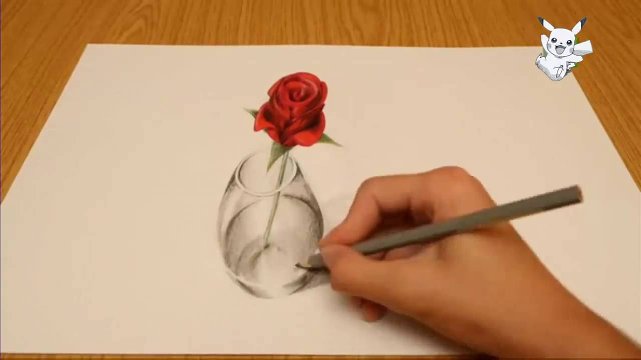 3d flower drawing at getdrawings free for personal use 3d 1280x720 how to make a 3d flower out of paper mightylinksfo