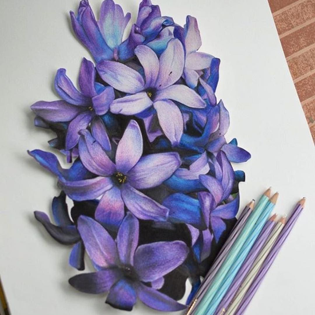how to draw a 3d flower