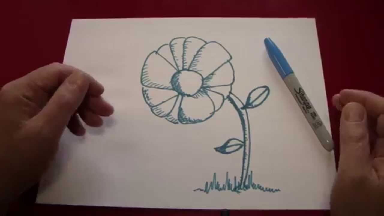 1280x720 How To Draw A Beautiful 3d Flower