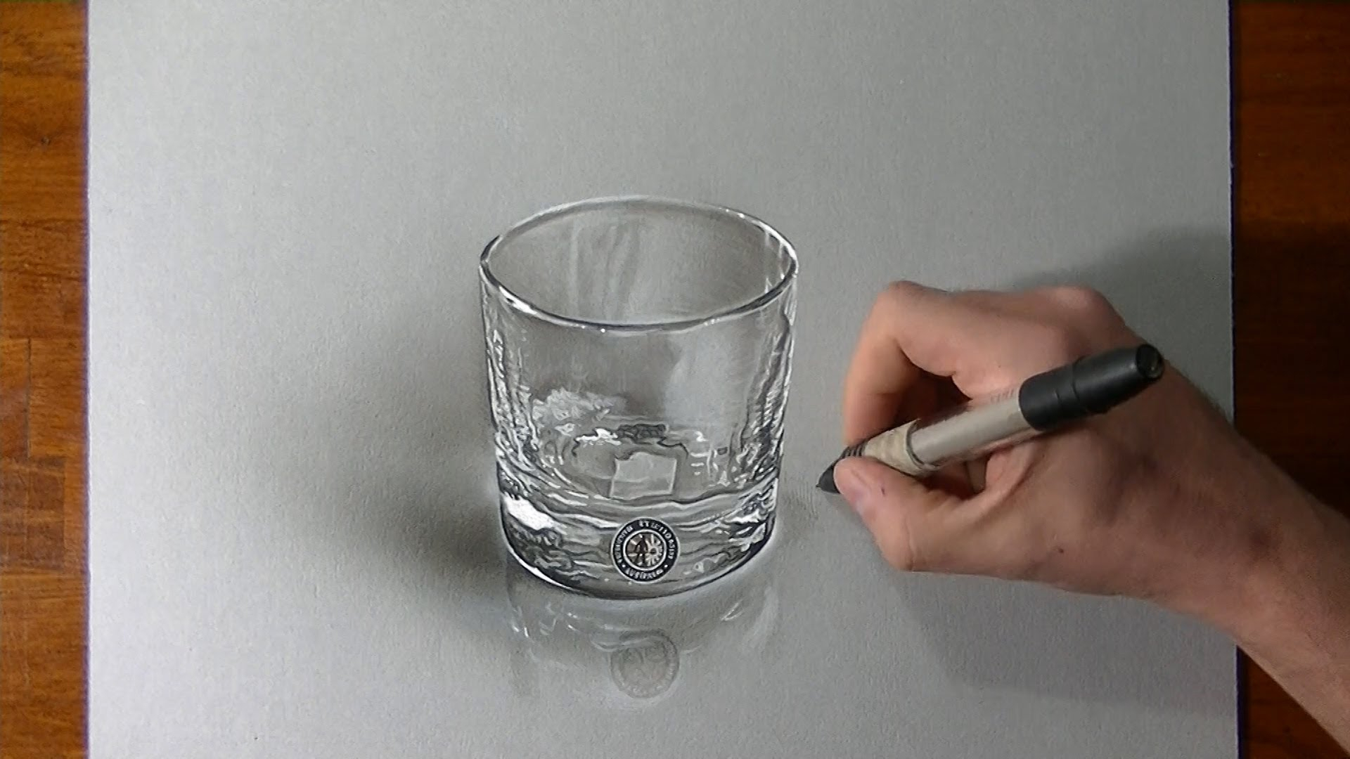1920x1080 3d Drawing How To Hyperrealistic 3d Drawing Of A Whisky Glass