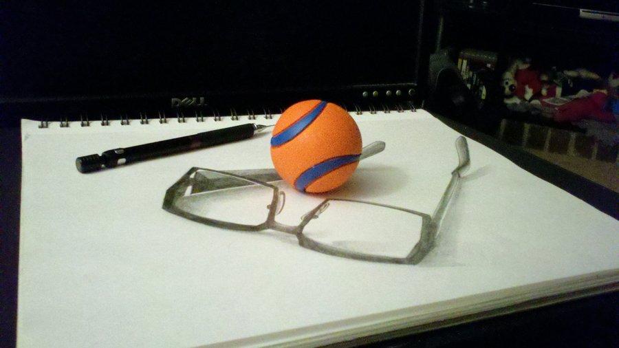 900x506 3d Glasses Drawing By Jtillustrations