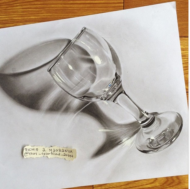 613x609 9 Glass 3d Drawing By Richie Magbanua Image Preview Image