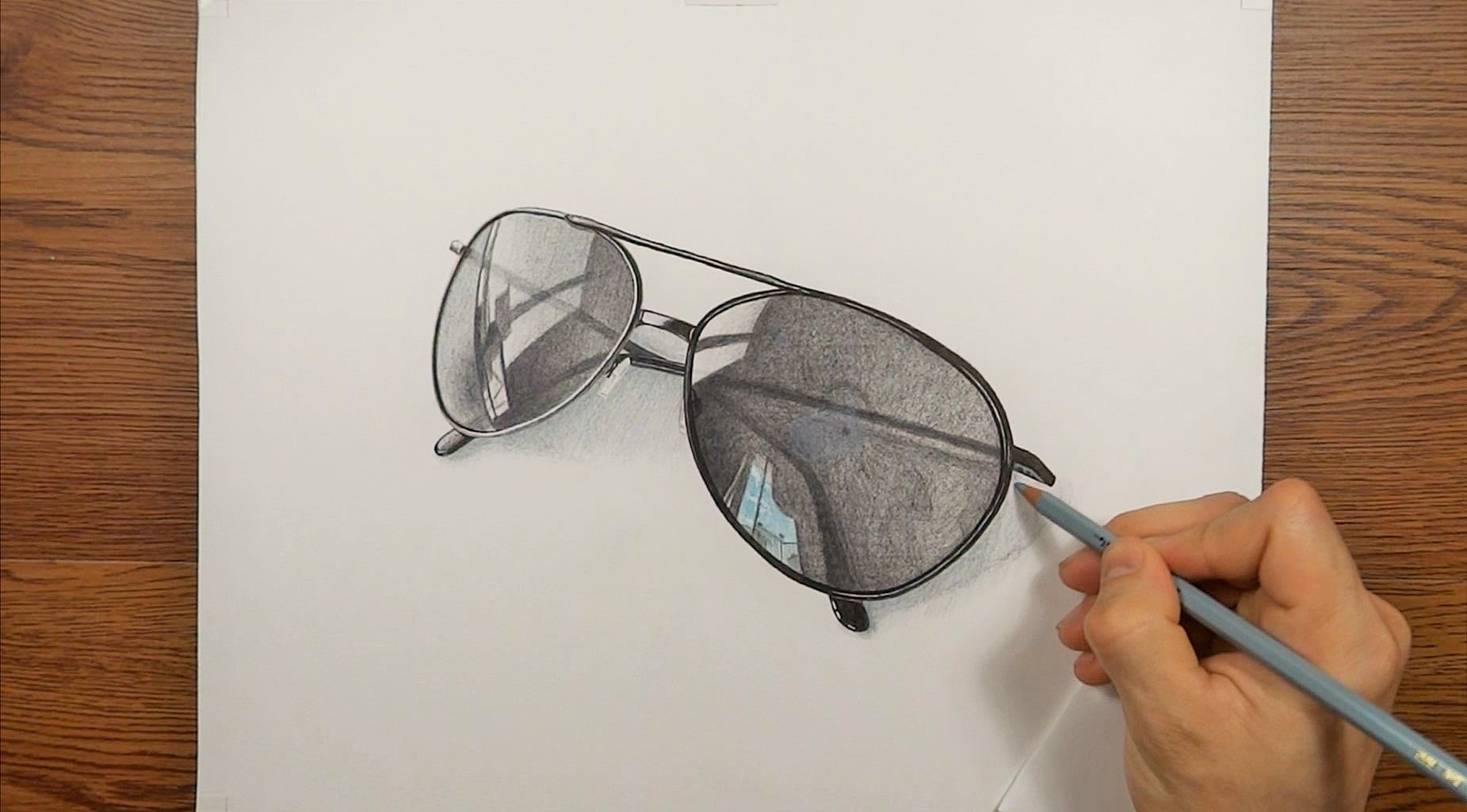 1851x1025 Drawing Time Lapse My Sunglasses 3d Art