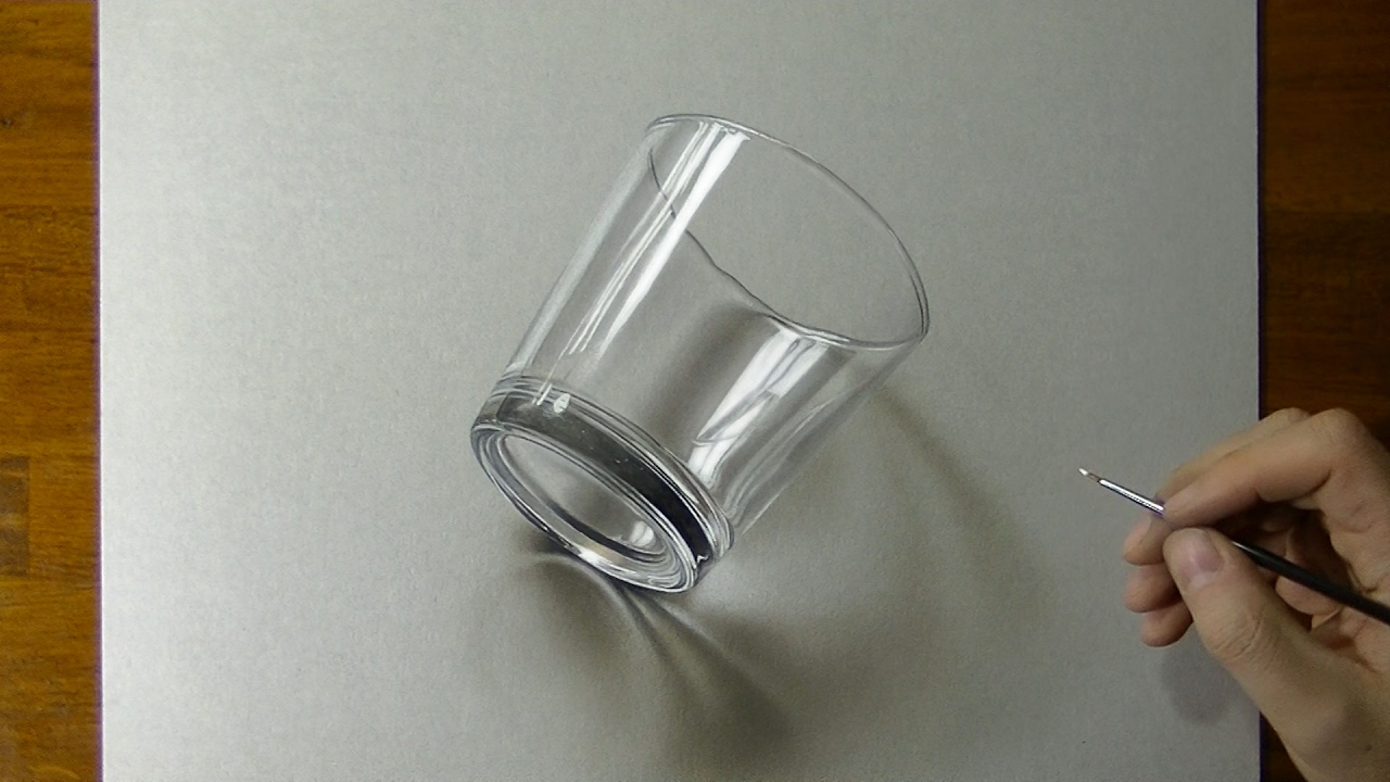 1280x720 Drawing Of A Simple Glass